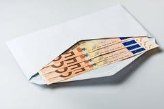 Umschlag mit Geld Stockbilder