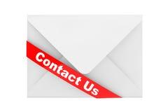 Umschlag mit Kontakt wir Zeichen Lizenzfreies Stockfoto