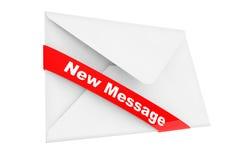 Umschlag mit neuem Mitteilungs-Zeichen Stockfotos