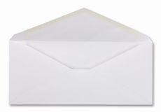 Umschlag mit Pfad Stockfoto