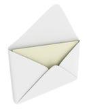 Umschlag mit unbelegtem Papier Lizenzfreies Stockfoto