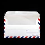 Umschlag mit unbelegtem Weinlesepapier Stockbild