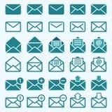 Umschlag-Post-Ikonen lizenzfreie abbildung
