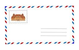 Umschlag und Briefmarkeabbildung vektor abbildung