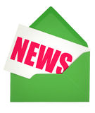 Umschlag und Nachrichtenanmerkung Stockbild