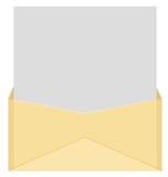 Umschlag und Zeichen Stockbilder