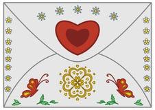 Umschlag-Valentinsgruß Stockbild
