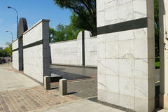 Umschlagplatz Monument on Stawki street in Warsaw, Poland. Stock Photos