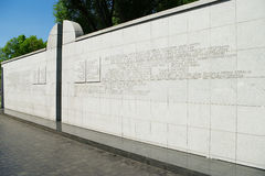 Umschlagplatz Monument on Stawki street in Warsaw, Poland. Royalty Free Stock Photo