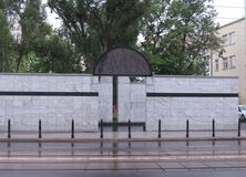 Umschlagplatz monument, Warszawa Royaltyfri Bild
