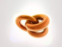 umsponnene kupferne Orange 3D lizenzfreie abbildung