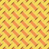 Umsponnenes Webartmuster, gelber Hintergrund stock abbildung
