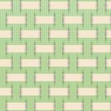 Umsponnenes Webartmuster, grüner Hintergrund lizenzfreie abbildung