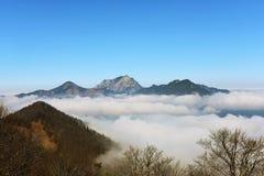 Umstellung über Österreich Stockfoto