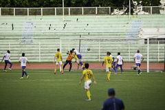 Umstrittenes Ziel Kaya gegen Hengste - vereinigte Liga Philippinen Manilas Fußball Lizenzfreie Stockfotografie