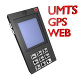 UMTS móvil, gps y Web 3d Imagen de archivo