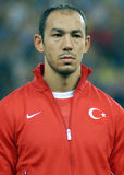 Umut Bulut in Romania-Turkey World Cup Qualifier Game Stock Image
