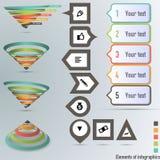 Umwandlungs- oder Verkaufstrichter 3d, Vektorgrafik Lizenzfreie Stockbilder