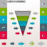 Umwandlungs- oder Verkaufstrichter 3d, Vektorgrafik Stockfotos