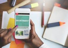 Umwelt Eco-Grün-Erhaltung der Naturs-Leben-Konzept Lizenzfreies Stockbild