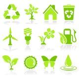 Umwelt-Ikonen Stockfoto