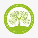 Umwelt-Logo Stockfoto