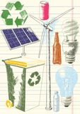 Umwelterhaltungs-Zeichnungen lizenzfreie abbildung