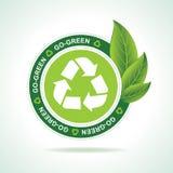 Umweltfreundlich bereiten Sie Ikonenentwurf auf stock abbildung