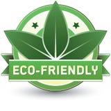 Umweltfreundliches Produkt, Nahrung oder Service-Kennsatz Stockbild