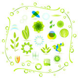 Umweltikonen Lizenzfreies Stockfoto