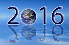 Umweltkonzept der Erde 2016 Stockfotografie