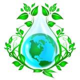 Umweltlogo Stockfoto