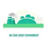 Umweltpflege-Vektor-Bild Stockfotos