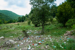 Umweltprobleme und Naturverschmutzung Stockfoto