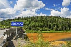 Umweltproblemverschmutzung von Flüssen Stockfotografie