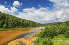 Umweltproblemverschmutzung von Flüssen Lizenzfreie Stockfotografie