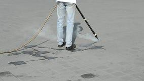 Umweltreinigung mit heißem Dampf, stock video