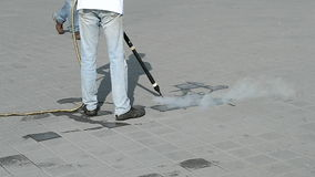 Umweltreinigung mit heißem Dampf, stock footage