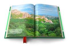 Umweltschutzbuch Stockfoto