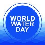 Umweltschutzkonzept des Einsparungswassers und -welt Weltwasser-Tag vektor abbildung