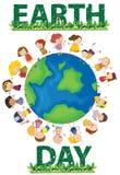 Umweltslogans, Sprechen und Phrasen über die Erde, die Natur und das gehende Grün Lizenzfreies Stockbild