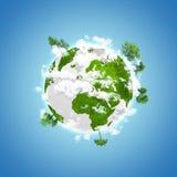 Umweltslogans, Sprechen und Phrasen über die Erde, die Natur und das gehende Grün vektor abbildung