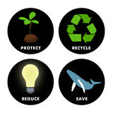 Umweltsymbole stock abbildung