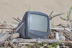 Umweltverschmutzung, sandiger Strand, Italien Stockbilder