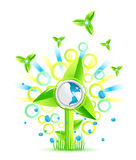 Umweltwindmühlenauslegung Stockfoto