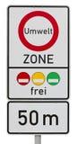 Umweltzone - deutsches Verkehrszeichen lizenzfreie stockfotos