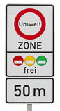 Umweltzone - sinal de tráfego alemão Fotos de Stock Royalty Free