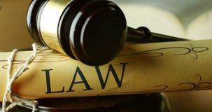 Umwerben Sie das schuldige Gesetzesrechtssystem- und -gerechtigkeitskonzepturteil oder Unschuld stock footage