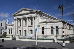 Umwerben Sie Gebäude in Oamaru-` s viktorianischem Bezirk, Neuseeland Stockfoto