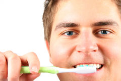 umyć zębów Zdjęcia Stock